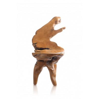 Teaková koreňová stolička
